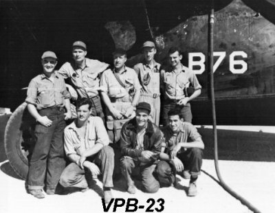 pby5a flight crew from vpb23 on guam in 1945