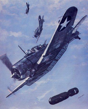 Art et peinture Combat Aero NAVAL - Air Fights of WWII Vcdauntl