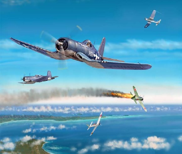Art et peinture Combat Aero NAVAL - Air Fights of WWII Boyington