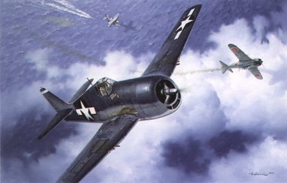 击落了一架试图攻击美军水上飞机的日本零式机