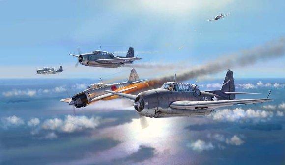 Art et peinture Combat Aero NAVAL - Air Fights of WWII Santacruz